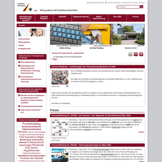 Kraftfahrt-Bundesamt - Startseite