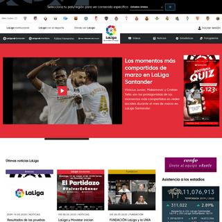 Página web oficial de LaLiga - Liga de Fútbol Profesional