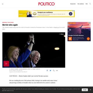 Bernie wins again - POLITICO