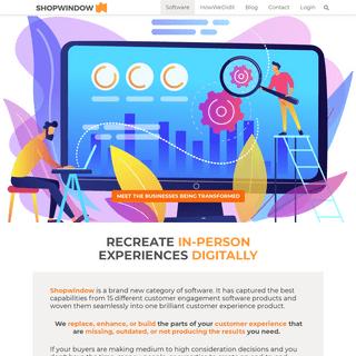 ArchiveBay.com - shopwindow.io - Shopwindow Intelligent Customer Experience Software