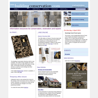 The Building Conservation Website- information centre for the conservation, restoration and repair of historic buildings