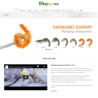 Seafood Importer & Exporter From China - Kingsun Foods