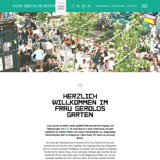 Frau Gerolds Garten - Sonnenterasse, Sommerrestaurant, Winterstube, Kunst und Stadtgarten - Geroldareal Zurich West - Frau Gerol
