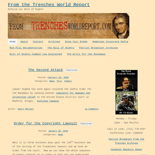 From the Trenches World Report - Enforce our Bill of Rights