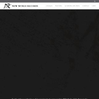 New World Records - Homepage – newworld-records
