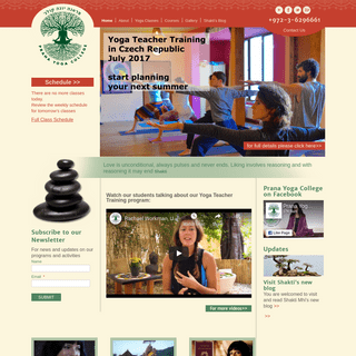 Prana Yoga College, free yoga classes, yoga teacher training