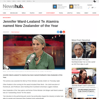 ArchiveBay.com - www.newshub.co.nz/home/entertainment/2020/02/jennifer-ward-lealand-te-atamira-named-new-zealander-of-the-year.html - Jennifer Ward-Lealand Te Atamira named New Zealander of the Year - Newshub