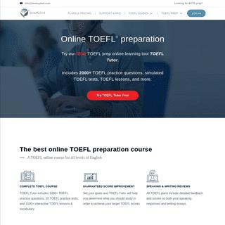 TOEFL Preparation, Practice, & Online Courses - BestMyTest TOEFL
