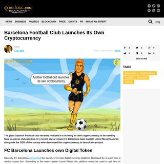 ArchiveBay.com - coinidol.com/barcelona-launches-cryptocurrency/ - Barcelona Football Club Launches Its Own Cryptocurrency