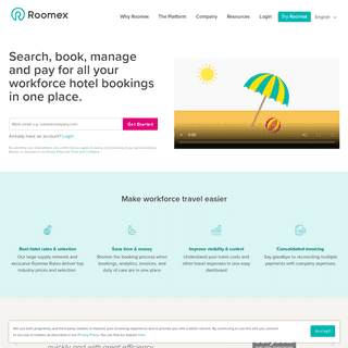 Roomex - Search, book, manage, and pay for all your business hotel bookings in one place.