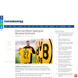 Emre Can Resmi Gabung ke Borussia Dortmund