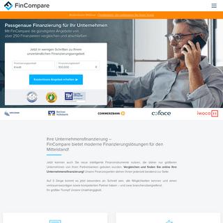 FinCompare - die digitale Plattform für Mittelstandsfinanzierung
