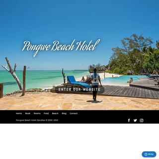 welcome - Pongwe Beach Hotel