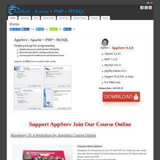 AppServ - Apache + PHP + MYSQL – AppServ, AppServHosting, AppServNetwork, AppServ Download