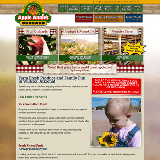 Apple Annie's Pick-your-own Fruit Orchards, Produce Farm, and Country Store in Wilcox, Arizona