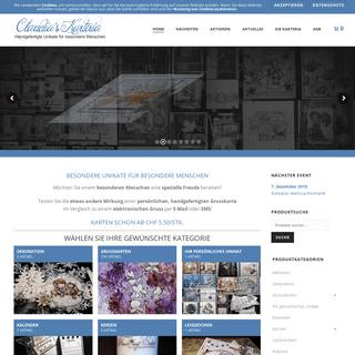 Ihr Onlineshop für Grusskarten und mehr - Claudia's Karteria