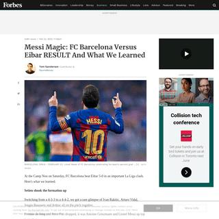 ArchiveBay.com - www.forbes.com/sites/tomsanderson/2020/02/22/messi-hat-trick-four-goals-fc-barcelona-eibar-result-what-we-learned/ - Messi Magic- FC Barcelona Versus Eibar RESULT And What We Learned