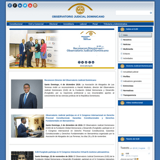 Observatorio Judicial Dominicano - Inicio