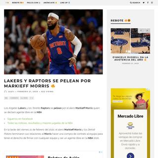 ArchiveBay.com - elfildeo.com/nba/lakers-raptors-nba-pelean-markieff-morris-noticias/62854/2020/ - NBA- Lakers y Raptors se pelean por Markieff Morris