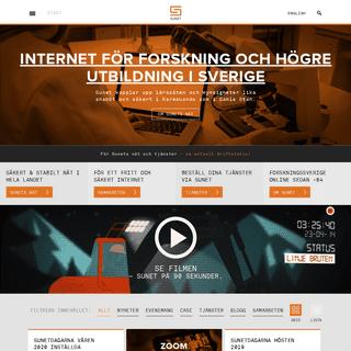SUNET - Datakommunikation och infrastruktur för forskning och utbildning