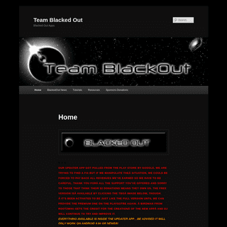 Team Blacked Out - Blacked Out Apps