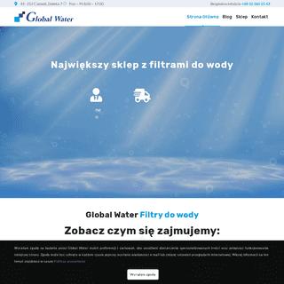 Global Water Filtry do wody - Twoje źródło wiedzy o wodzie - Blog i Sklep