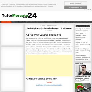Serie C girone C – Catania rimonta, 1-2 a Picerno – TM24