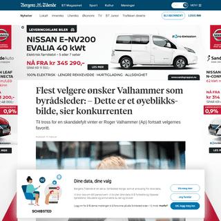 Flest velgere ønsker Valhammer som byrådsleder- – Dette er et øyeblikksbilde, sier konkurrenten