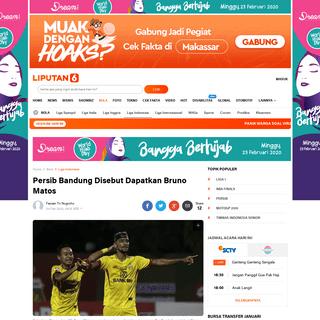Persib Bandung Disebut Dapatkan Bruno Matos - Bola Liputan6.com