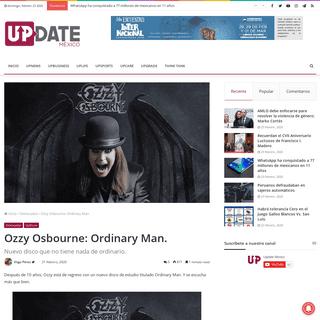 Ozzy Osbourne- Ordinary Man. – Update México