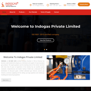Welcome to indogas private limited