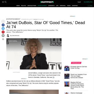 ArchiveBay.com - www.huffpost.com/entry/janet-dubois-good-times-star-dead_n_5e4c8304c5b6eb8e95b47292 - Ja'net DuBois, Star Of 'Good Times,' Dead At 74 - HuffPost