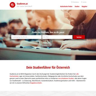 Studieren.at - Dein Studienführer für Österreich