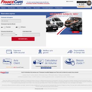ArchiveBay.com - francecars.fr - Location véhicules - location de voitures et utilitaires - france cars