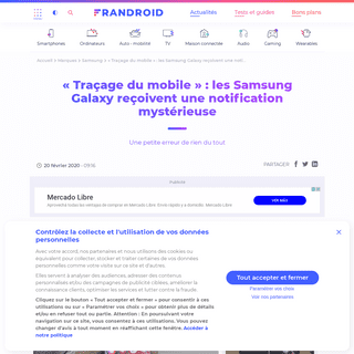 ArchiveBay.com - www.frandroid.com/marques/samsung/675980_tracage-du-mobile-les-samsung-galaxy-recoivent-une-notification-mysterieuse - « Traçage du mobile » - les Samsung Galaxy reçoivent une notification mystérieuse - Frandroid