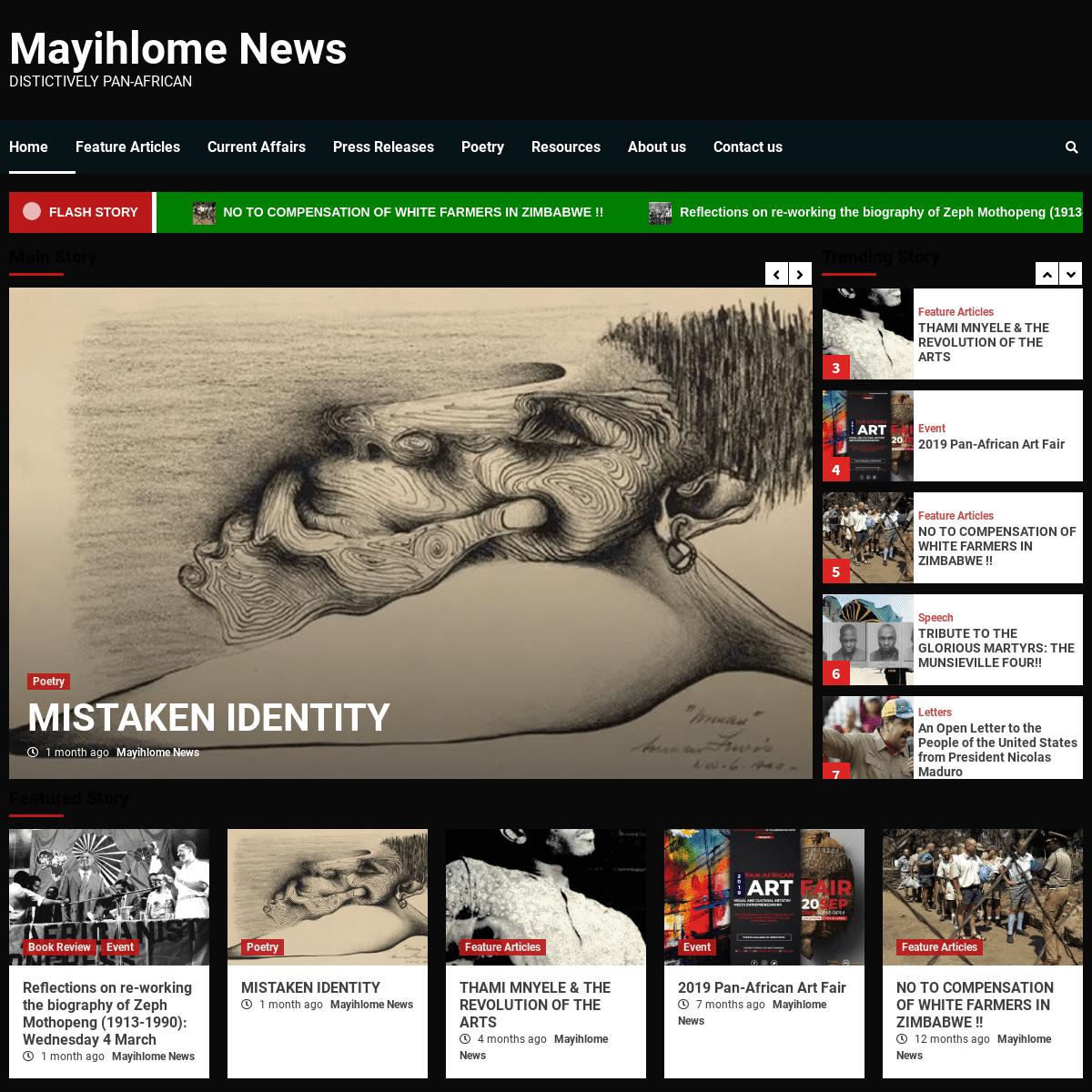 Mayihlome News – Distictively Pan-African