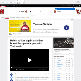 AC Milan vs. Torino - Football Match Report - February 18, 2020 - ESPN