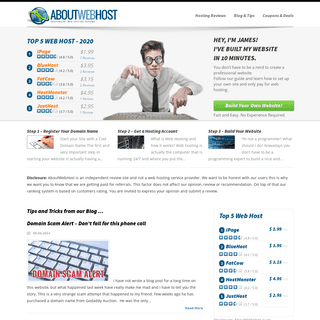 Web Hosting Reviews 2019 - AboutWebHost