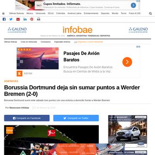 Borussia Dortmund deja sin sumar puntos a Werder Bremen (2-0) - Infobae