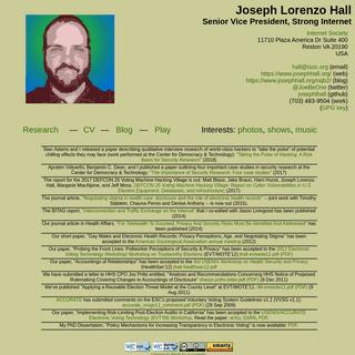 Joseph Lorenzo Hall's Web Page