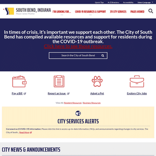 City of South Bend, Indiana – Mayor James Mueller