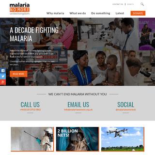 Home - Malaria No More UK