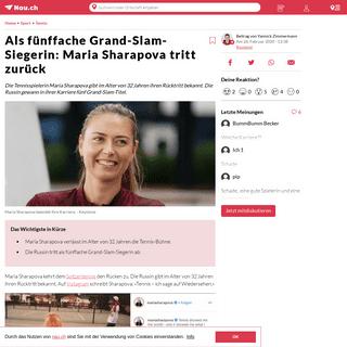ArchiveBay.com - www.nau.ch/sport/tennis/tennis-star-maria-sharapova-tritt-zuruck-65668828 - Als fünffache Grand-Slam-Siegerin- Maria Sharapova tritt zurück