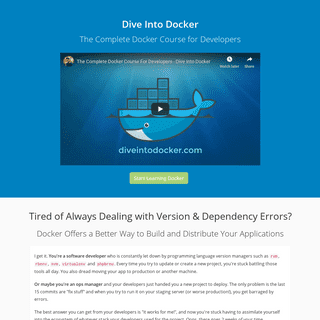 The Complete Docker Course for Developers — Dive Into Docker