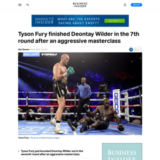 Tyson Fury finished Deontay Wilder in the 7th round - Business Insider