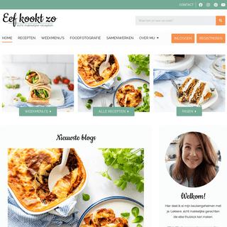 Lekkere en écht makkelijke recepten - Eef Kookt Zo