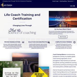 Coach Training Alliance - Life Coach Training & Certification