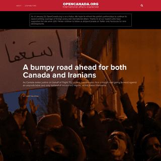 OpenCanada.org - international affairs explained