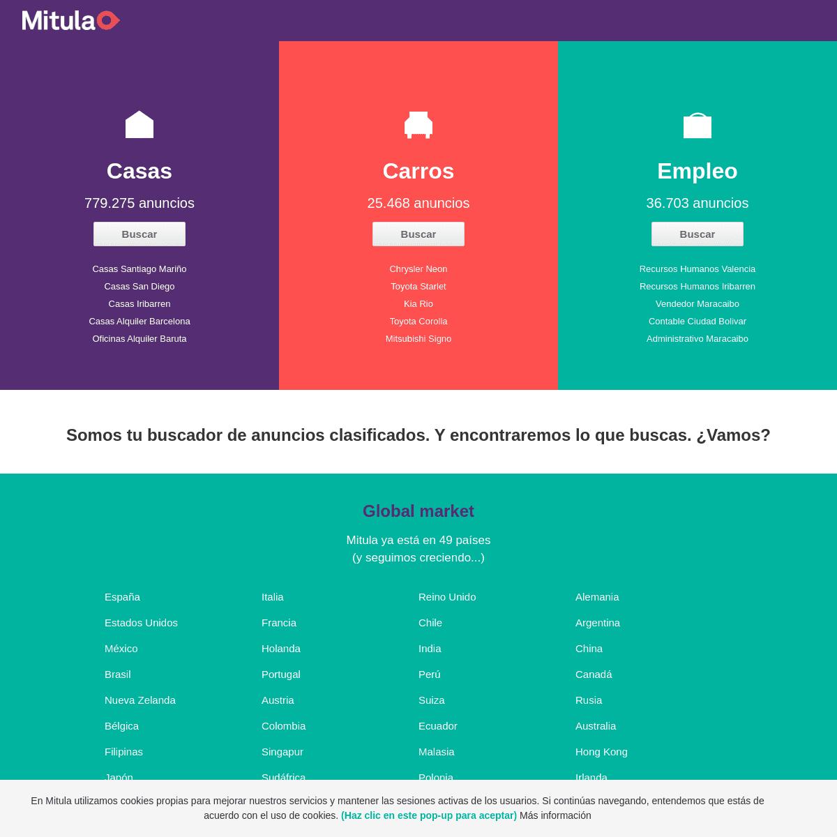 El buscador de anuncios clasificados de inmobiliaria, motor y empleo - Mitula