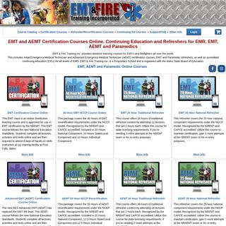 EMT & AEMT Certification Courses. EMT, AEMT and Paramedic Recertification